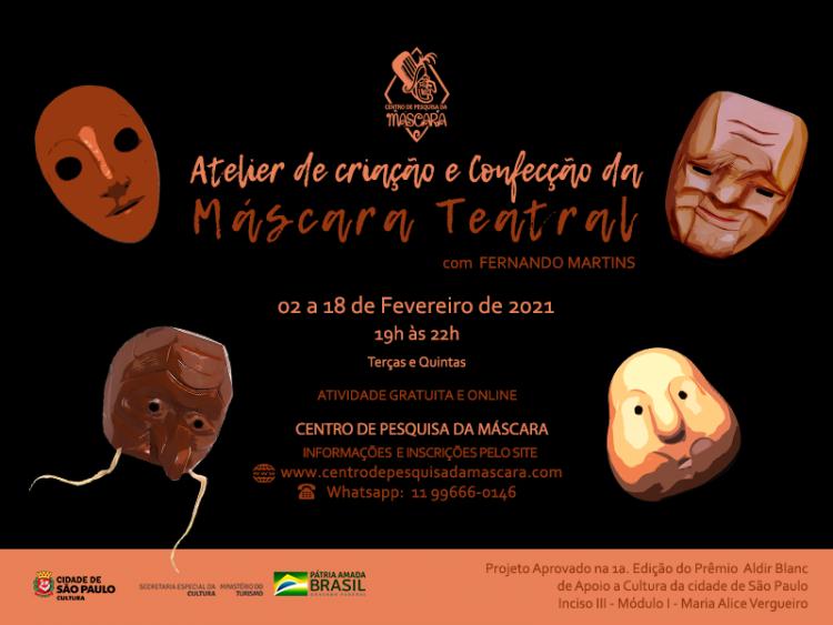 Atelier de Criação e Confecção de Máscaras Teatrais