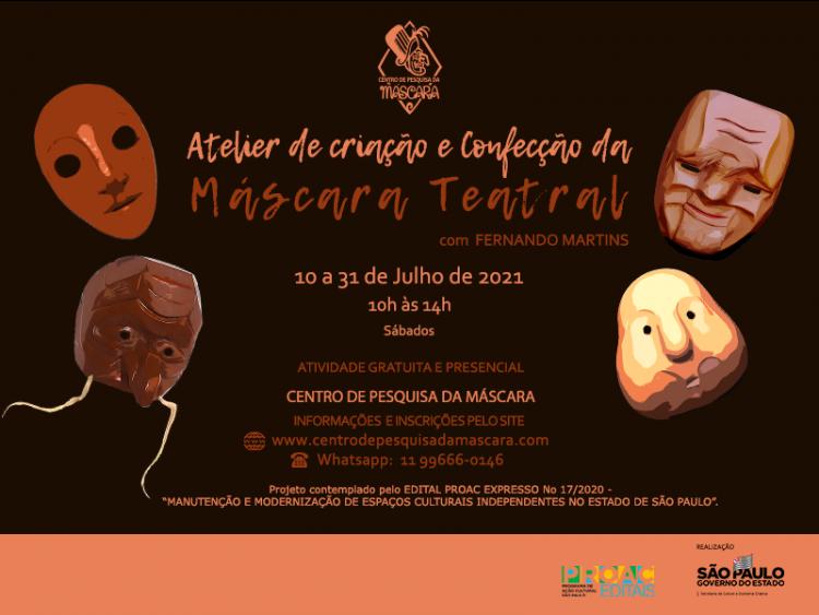 Atelier de Criação e Confecção de Máscaras Teatrais – PRESENCIAL